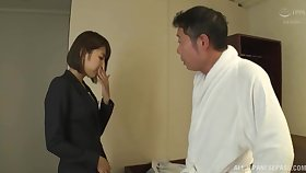 Fetching secretary Harusaki Ryou takes a extensive dick of her big-shot