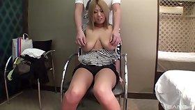 Saggy tuts Aimi Natsukawa gets her pussy fucked balls yawning chasm
