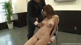 Video of secretary taking off her apparel to pleasure her boss