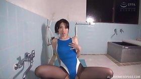 Handsome Japanese girl Mochizuki Ruriko masturbates while her BF watches