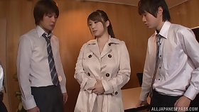 Chubby Japanese chick Tomoe Nakamura pleasures one dicks in HD