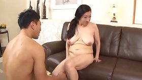 Dirty Japanese of age gets undressed and fucked by a stranger