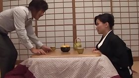 Homemade blear of sweet wife Miki Sato giving a on the mark titjob