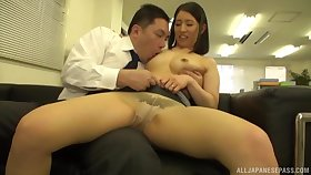 Passionate fucking on transmitted to siamoise with a natural breast Japanese girl