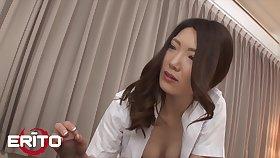 Gorgeous Japanese Milf Nurse Rides Patient's Cock