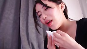 Hardcore clothed sex nigh Mochizuki Risa swallowing cum afterwards
