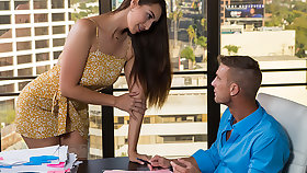Munificent brat Bella Rolland is reachable for her dad's employee to stick his horseshit at hand her pussy!