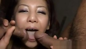 Asian chick tames hard male rods