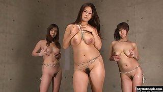 Asuka, Airi Ai, and Aihara Future are three Asian girls that love pleasing a man together.