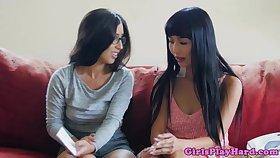 Pussylicking teacher seduces an asian dyke