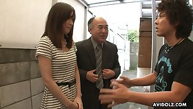 Horny Saki Aiba gets in every direction nude coupled with rubs her wet pussy a bit