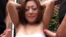 Jav Armpit Good-luck piece with Hot Girl by 2 dudes.